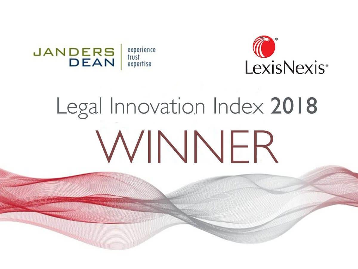 legal innovation index 2018 winner
